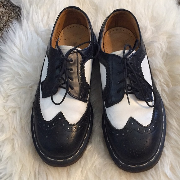 e51ee0e387ef Dr. Martens Shoes - Black   White Oxford Dr Martens